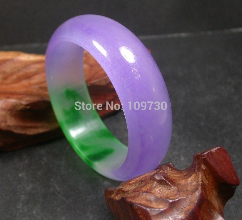 001533 gélido chino verde lavanda JADE brazalete 60 mm (A0502)