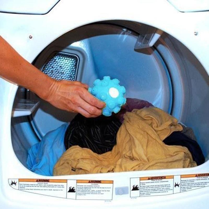 Sèche-linge et machine à laver   Séche-plis, sèche-linge, tissu, adoucissant, boule, blanchisseuse et fer en une heure