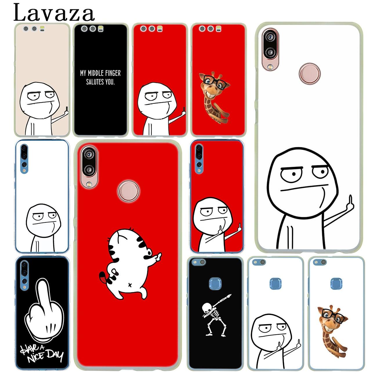 Cara meme Meio Dedo Engraçado Amantes Dos Desenhos Animados Case for Huawei Y9 Y6 Y7 Prime 2018 2019 Honra 20 8C 8X8 9 9X10 Lite 7X 7A Pro