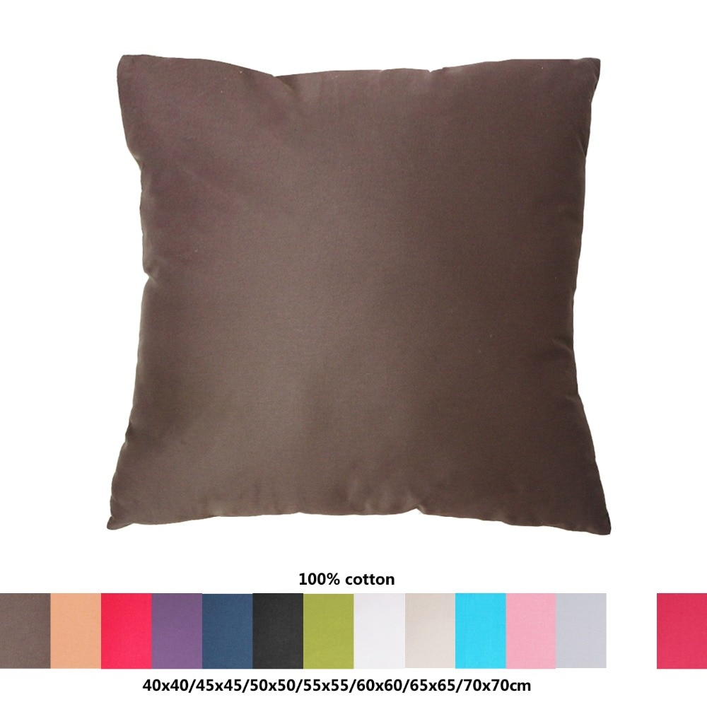 100% tela de algodón funda de cojín de sofá 40x4 0/45x4 5/50x5 0/55x5 5/60x6 0/65x6 5/70x70cm funda de almohada decorativa