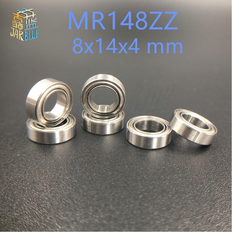 Миниатюрные шарикоподшипники MR148ZZ MR148 ZZ MR148ZZ/RS, черные/синие, 8x14x4 мм, бесплатная доставка, 10 шт./партия, L-1480ZZ