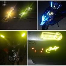 2PCs Car Diamond level Reflective Sticker  Gecko Night Warning Conspicuity Sticker Funny Animal Decal Sticker Car Styling