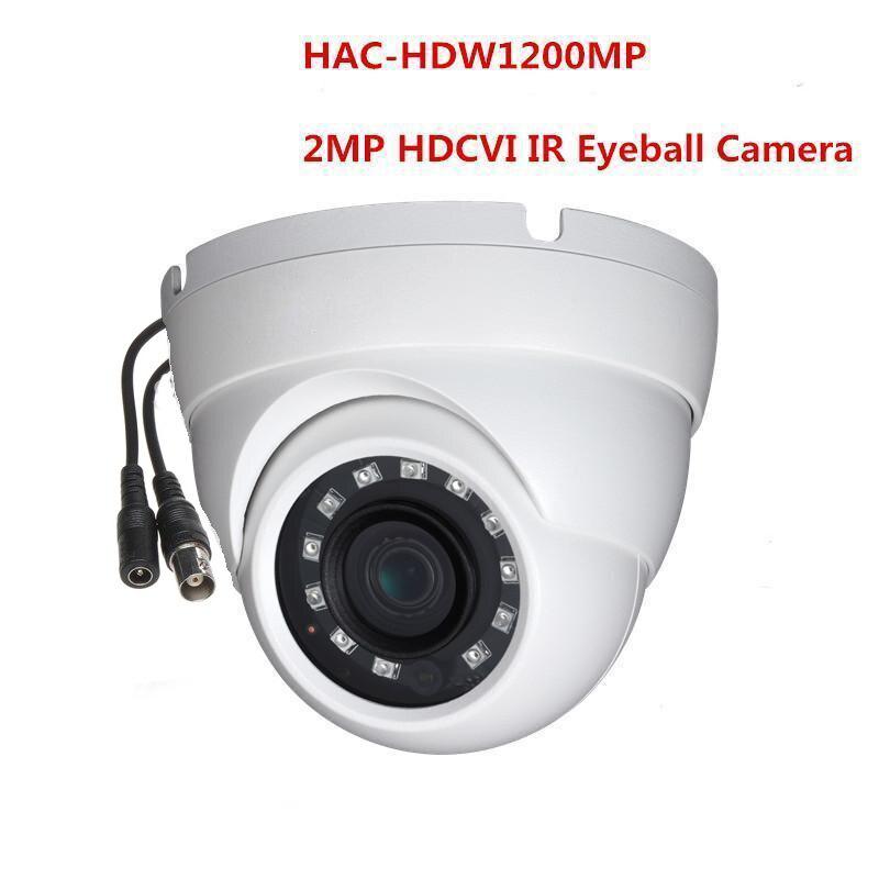 Cámara HD DH-HAC-HDW1200M HDCVI Original Cámara Eyeball 2MP inteligente IR 30M IP67 seguridad CCTV Cámara HAC-HDW1200M