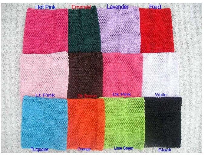 "Colorido bebé 9 ""Crochet Tutu Tube Tops infantil 23x20cm Waffle String Knitted camisetas de corsé tanques niños diademas elásticas 120 unids/lote"