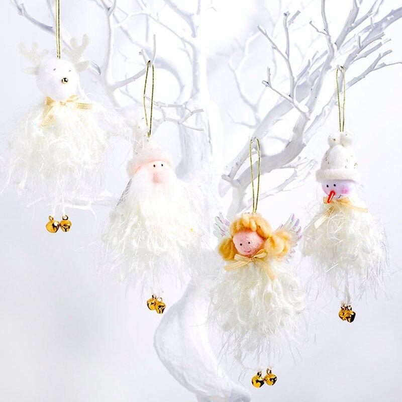 1 pieza lindo Ángel de Navidad muñeca colgante adornos para el hogar fiesta de Navidad árbol de Navidad adornos decoraciones niños regalos suministros