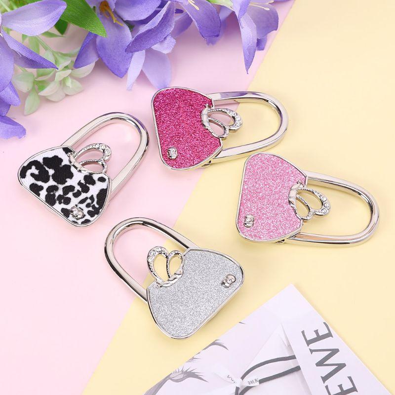 Butterfly Rhinestone Foldable Purse Handbag Hanger Table Hook Holder Women Gifts