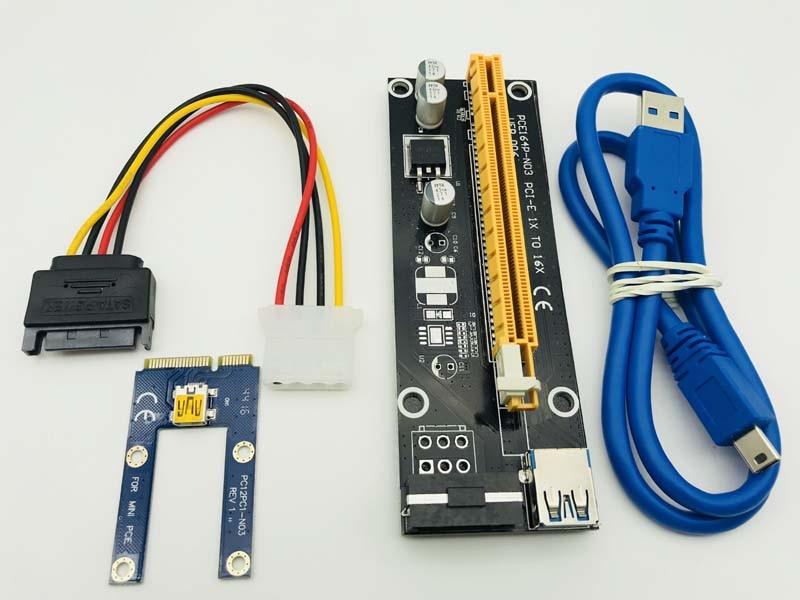 Tarjeta vertical USB 3,0 PCIe 1x a PCI Express x16 para ordenador portátil tarjeta gráfica externa GDC Miner mini PCIe a PCI-e ranura para minería BTC