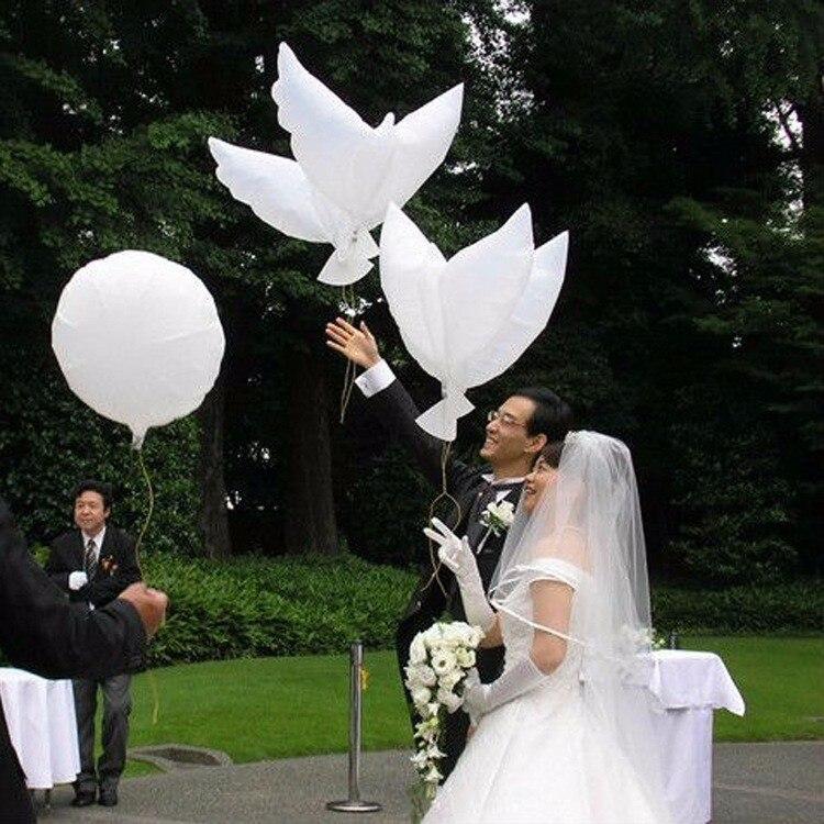 20 piezas globos grandes de Paloma para globos de decoración de boda pájaro de paz fiesta de globos suministros para bodas y cumpleaños provisiones para fiesta