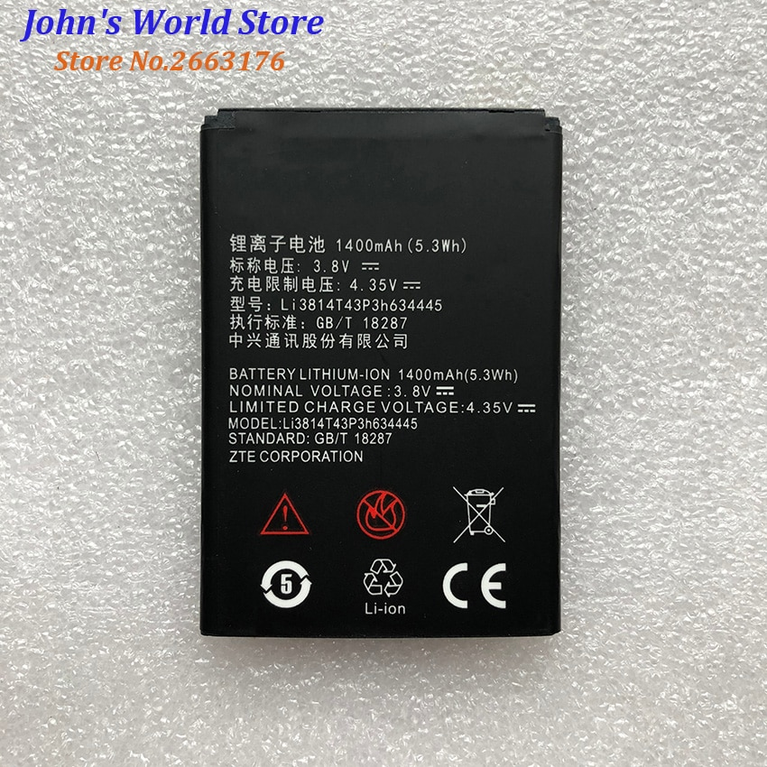 High Quality Li3814T43P3h634445 1400mAH Original Phone Battery For ZTE Blade A112 L110 V815W Smart M