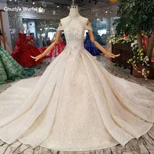 LS11283 a mano di lavoro abiti da sposa di lusso halter collo di cristallo off spalla abito di sfera abito da sposa di alta qualità abito da sposa