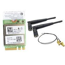 5dbi RP-SMA MHF4 Antenleri set + Atheros QCNFA364A 802.11ac 867 Mbps bluetooth BT 4.1 Wifi NGFF M.2 adaptör kartı 867 M WCBN808A