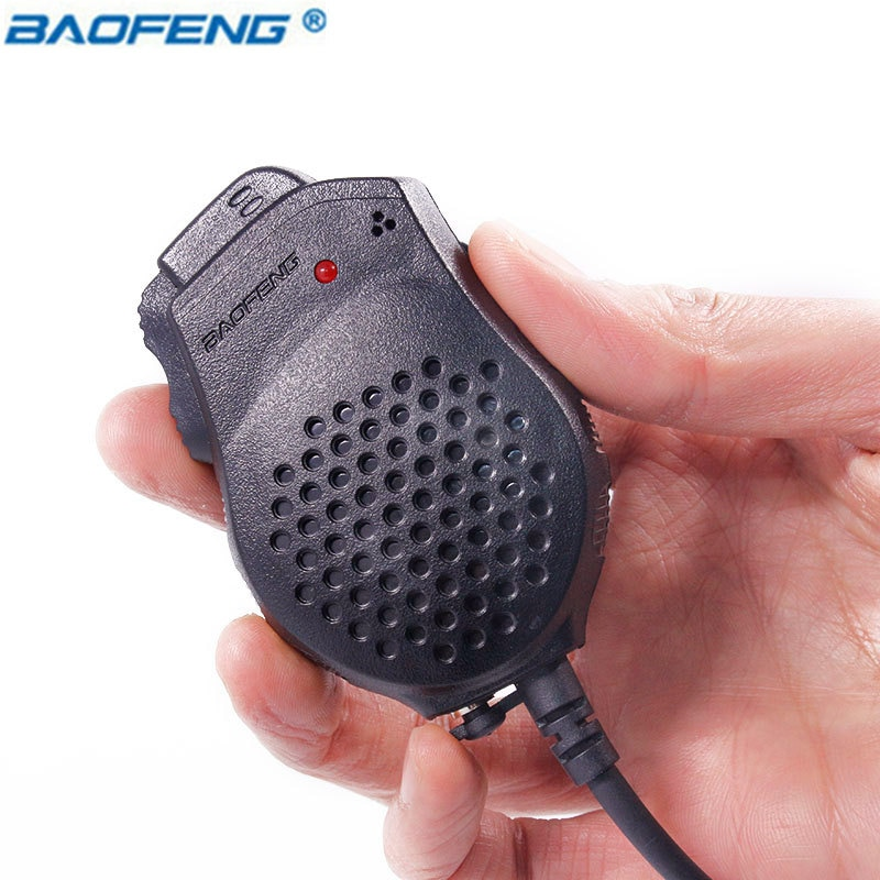 Walkie Talkie Baofeng 2 Dual PTT micrófono altavoz Para Kenwood TYT CE FCC barato de UV82 UV-82 UV 82 accesorios radio portátil