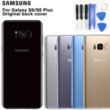 Samsung Original Glas Telefon Hintere Batterie Tür Für Samsung S8 S8 Plus S8 + S8plus SM-G955 S8 G9500 Gehäuse Zurück abdeckung Fällen