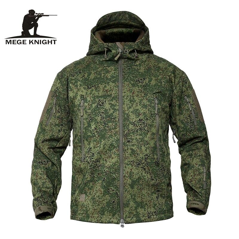 Chaqueta táctica de lana de camuflaje militar para hombre MEGE, chaqueta impermeable Softshell, cazadora de invierno, Abrigo con capucha del ejército, ropa de caza