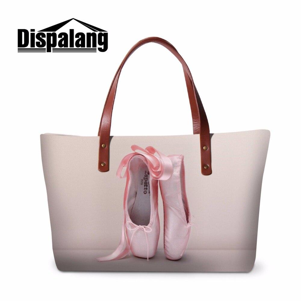 Dispalang balet Toe buta druku torebka na ramię kobiet duże torby na ramię dorywczo kobiet torba na ramię torba na plażę dla dziewcząt torby na zakupy