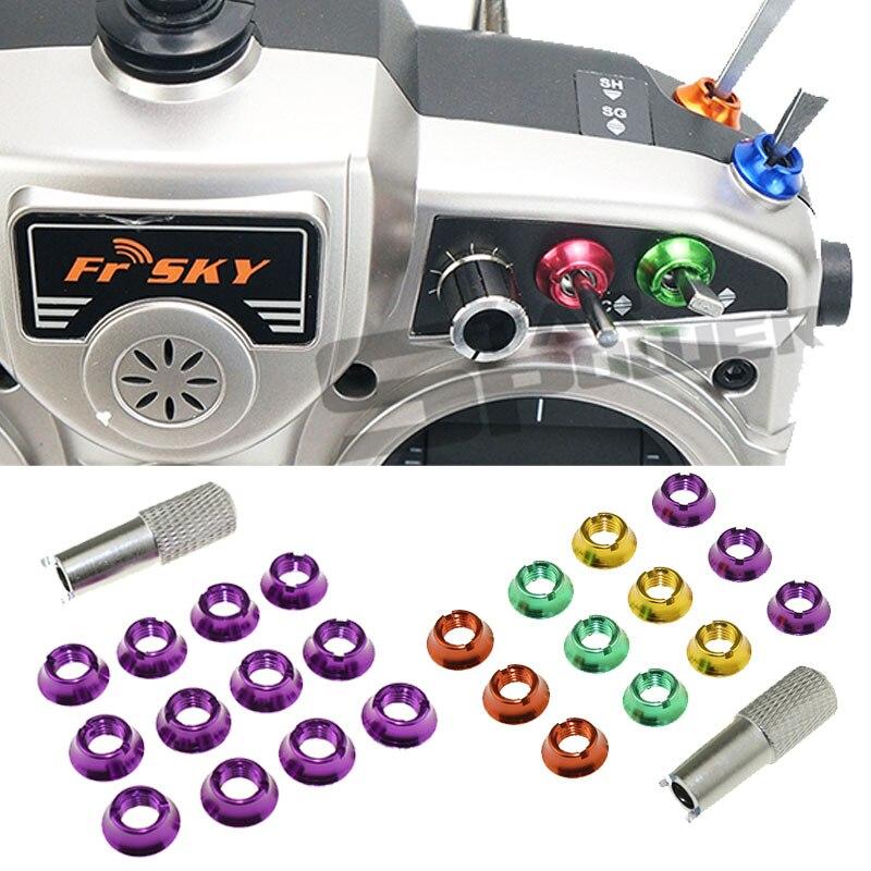 12 шт. переключатель для радиоуправления STAR POWER 7 цветов с гайкой 1 шт. гаечный ключ для RadioLink Futaba JR Frsky i6
