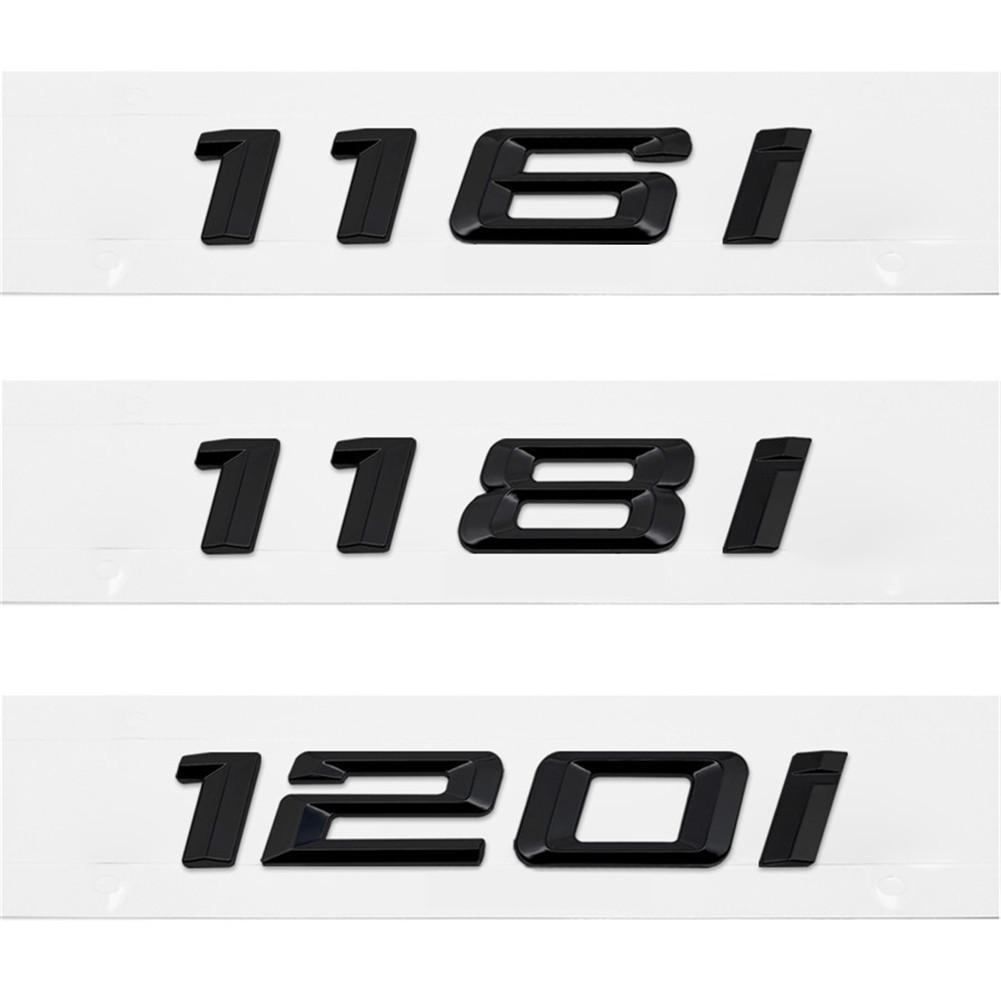 3D металлическая черная наклейка 116i 118i 120i 130i Автомобильная Задняя эмблема ботинок для BMW 1 серия E81 E82 E87 E88 F20 F21