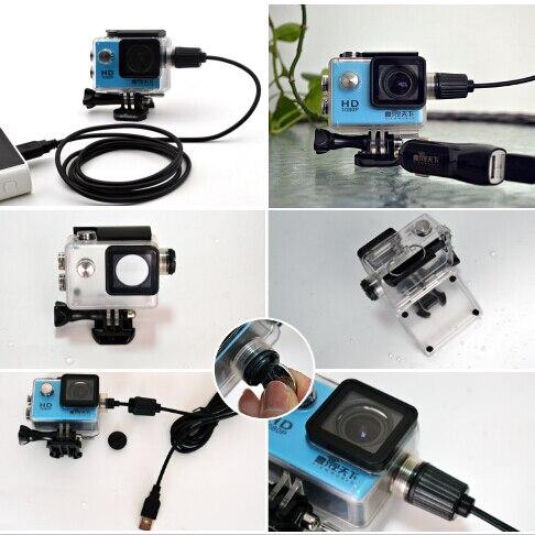 Аксессуары для камеры, водонепроницаемый корпус, зарядное устройство, USB кабель для SJCAM SJ4000 Air Sj9000 C30 C30R EKEN H9R для мотоцикла