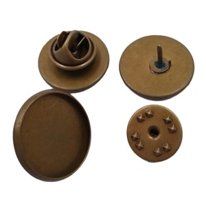 Antique Bronze 12mm 14mm 16mm 18mm 20mm 25mm Round Lapel Pin Brooch Tie Tack Blank Pins Butterfly Backs Collar Clips CL019