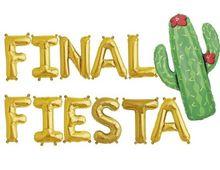 Ballon gonflable or argent de 16 pouces   Ballon à feuille Cactus FINAL FIESTA, ballon de décoration couleur or Rose pour fête danniversaire