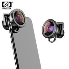 Apexel caméscope à très grand Angle HD 170, lentille pour iPhone à double objectif, Pixel, Samsung Galaxy, tous les Smartphones pour xiaomi