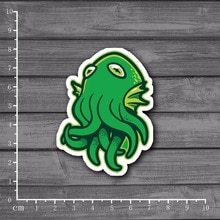 Cute flying Octopus Stationery Graffiti Sticker Decor For Ablum Scrapbookin Laptop Notebook Sticker New School Supplies[Single]