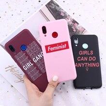 For Samsung S8 S9 S10 S10e S20 Plus Note 8 9 10 A7 A8 Girls Feminist Girl Gang Candy Silicone Phone Case Cover Capa Fundas