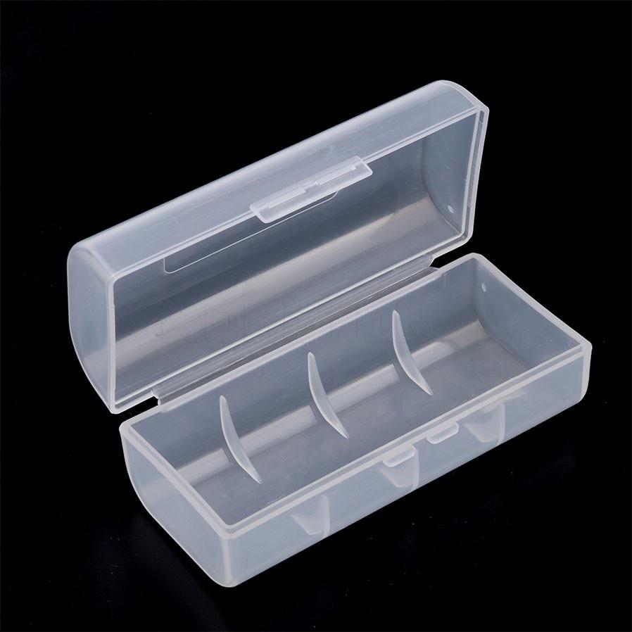 Draagbare Transparant Clear 26650 Batterij Opbergdoos Lithium Oplaadbare Batterij Case Organizer Container