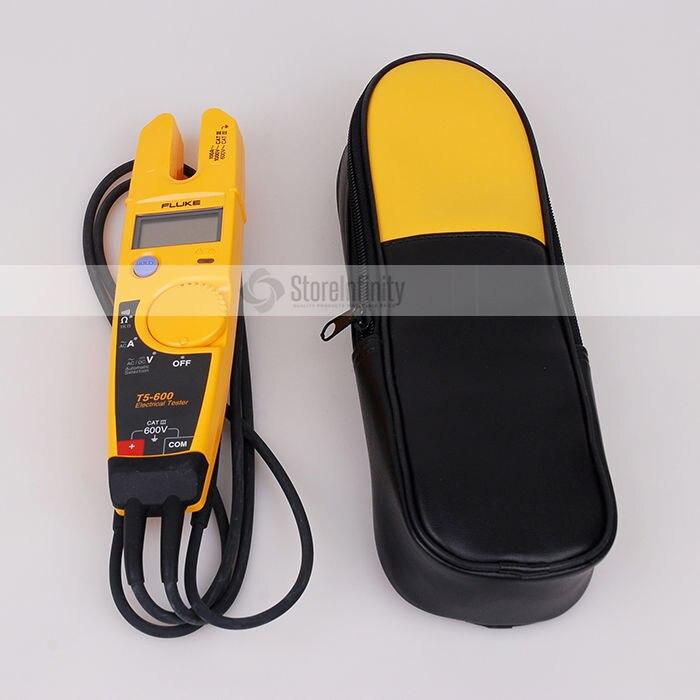 Fluke T5-600 braçadeira medidor de tensão continuidade corrente braçadeira medidor com labloot macio caso h13