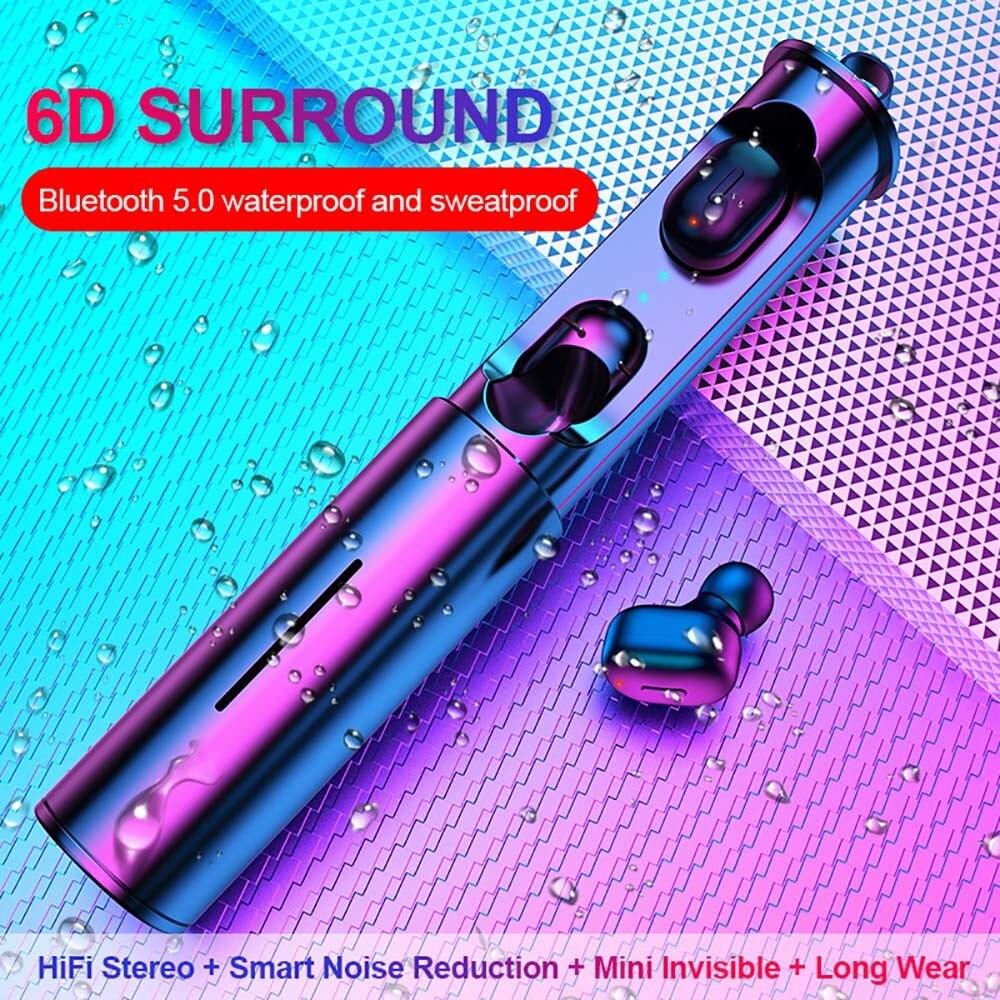 T1 Tws Drahtlose Bluetooth Kopfhörer 5,0 TWS 3D stereo Bluetooth Headsets Mit Mic HiFi Tiefe Bass Sound Cordless Dual Headset