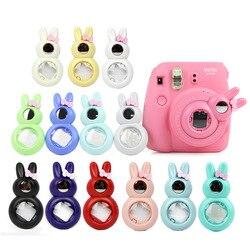 Камера FUJIFILM Instax Mini 8 Mini 7 s, милый кролик, зеркало для автопортрета, объектив для мгновенной съемки