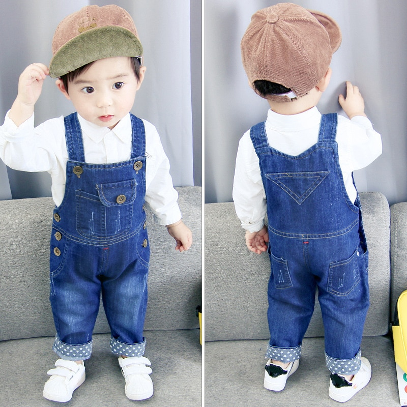IENENS Toddler Infant Boys Long Pants Denim Overalls Dungarees Kids Baby Boy Jeans Jumpsuit Clothes Clothing Outfits Trousers