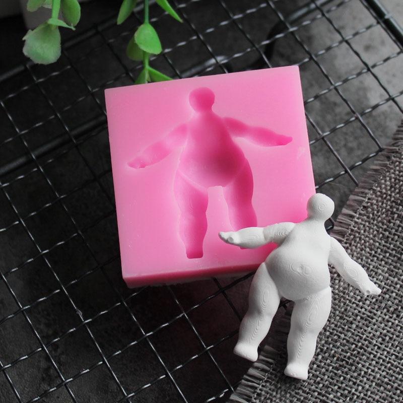Силиконовая форма для кукол «сделай сам», инструмент для сахарной помадки сахарный шоколадный, форма для мусса, желе, посуда для выпечки