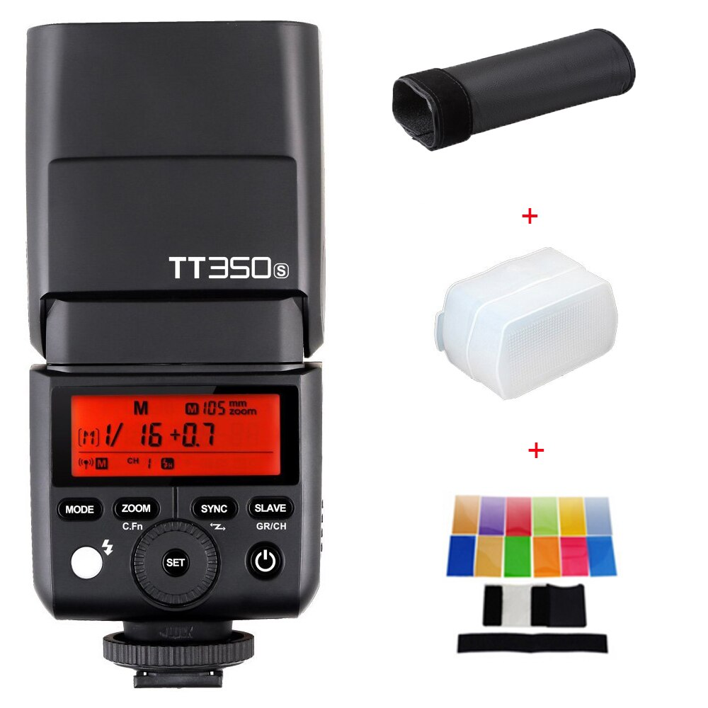 Godox Mini Speedlite TT350S TTL HSS GN36 2,4G luz de Flash de la Cámara de Sony A77II A7RII A7R A58 A99 RX10 A6000 A6500 DSLR