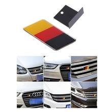 Volkswagen Scirocco GOLF 7 Golf 6 Polo GTI VW Tiguan   Emblème de calandre, drapeau allemand, pour Audi A4 A6, accessoires de voiture 1 pièce