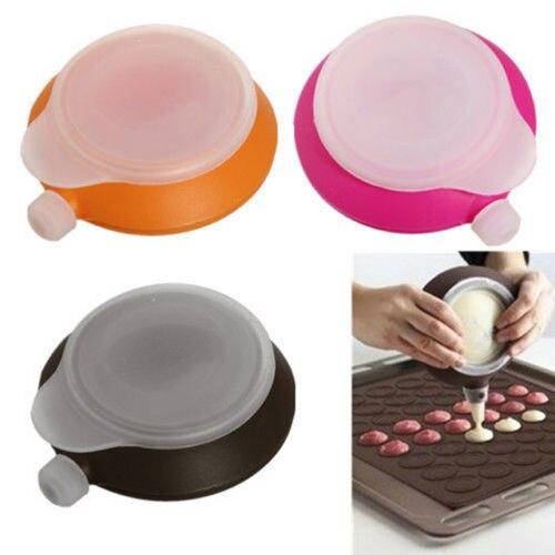 Juego de 3 boquillas de silicona para decorar Fondant, hornear macarrones, decorar pasteles, crema, magdalenas