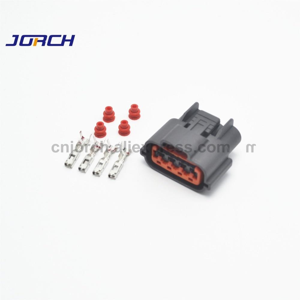 10 sets 4 pin automotive wire harness connector waterproof oxygen sensor plug socket for Nissan Sr20det CAS 6098-0144