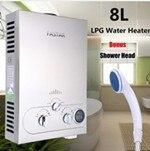 8L-LPG-1-A oferta especial ducha eléctrica montada en la pared 8L Lpg Gas propano calentador de agua caliente sin tanque inoxidable Lcd Ce