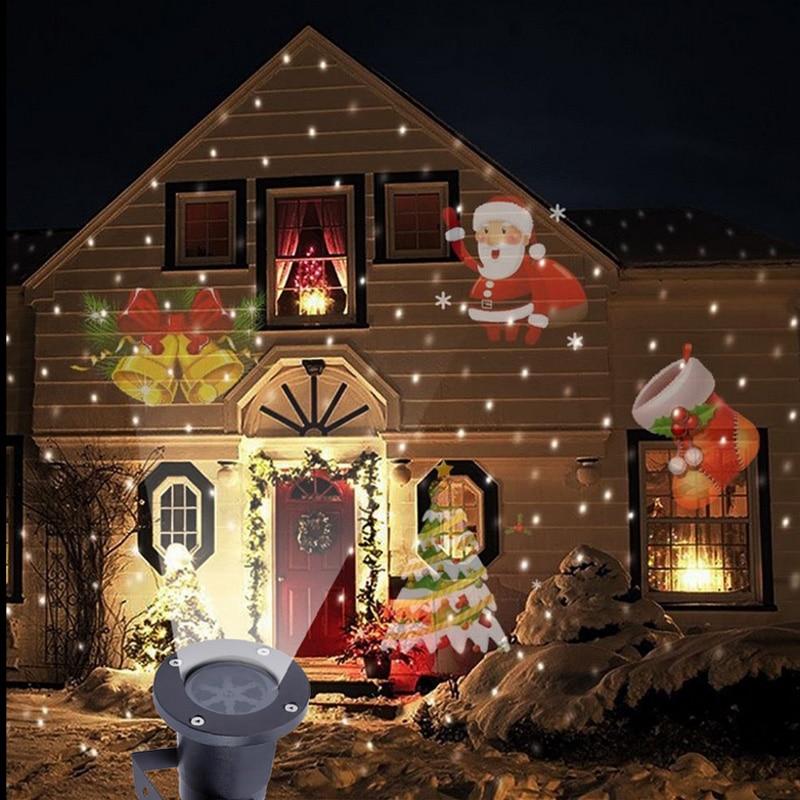 Lemonbest mini projetor de laser, de boneco de neve, para áreas externas, com movimentação da paisagem, à prova d água, para decoração de casa