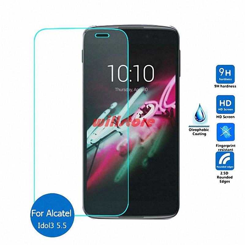 Para Alcatel One Touch Idol 3 5.5 6045 6045Y 6045 K 5.5-polegadas Tela de Vidro Temperado Filme Protetor de vidro Película protetora