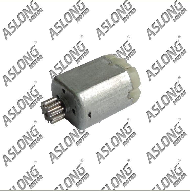 100 unids/lote 8-16 v 11090-12500 rpm FC-280PC DC motor Motor engranaje metálico M0.8 + 10 T, envío gratis