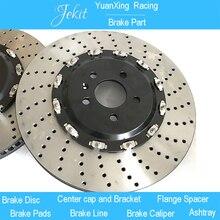 Jekit pièce de frein de voiture 350*32mm percé cloche centrale flottante pour hyundai genesis g70 roue de voiture avant