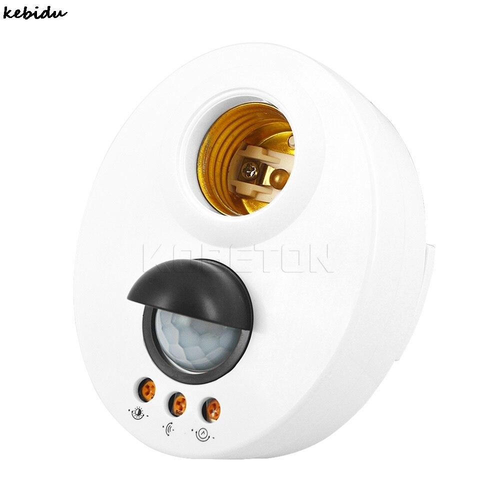 kebidu New Hot E27 Lamp Base Light Holder Leb Bulb Socket Infrared IR Sensor Automatic Wall PIR Motion Switch Detector