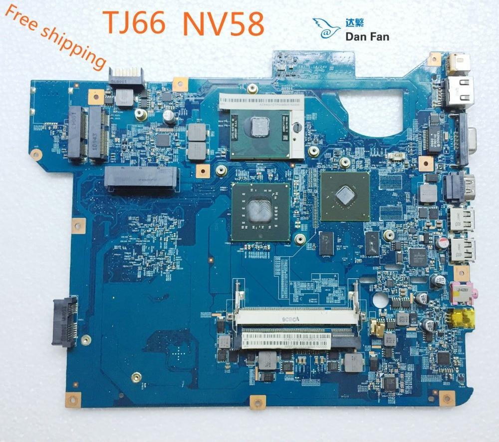 Материнская плата MBBFF01001 для ноутбука Packard bell Gateway NV58 TJ66 материнская плата 100% протестированная полностью Рабочая