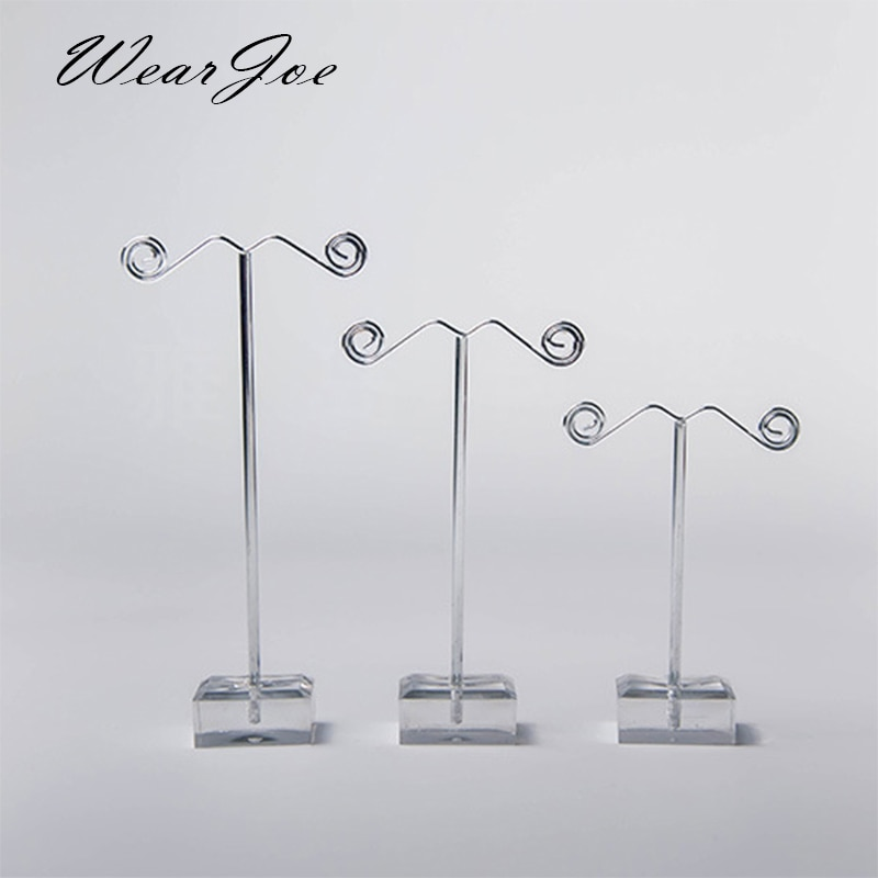 Wholesale Black Clear Acrylic Stud Earring Jewelry Display Rack Stand Organizer Bouches Ornament Hol