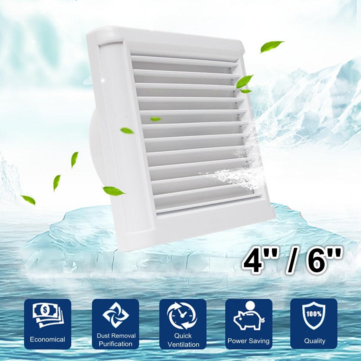 4 pulgadas 6 pulgadas impermeable silencioso Extractor de baño Extractor ventilador fuerte de ventilación para la cocina ventiladores de ventilación de la ventana del inodoro