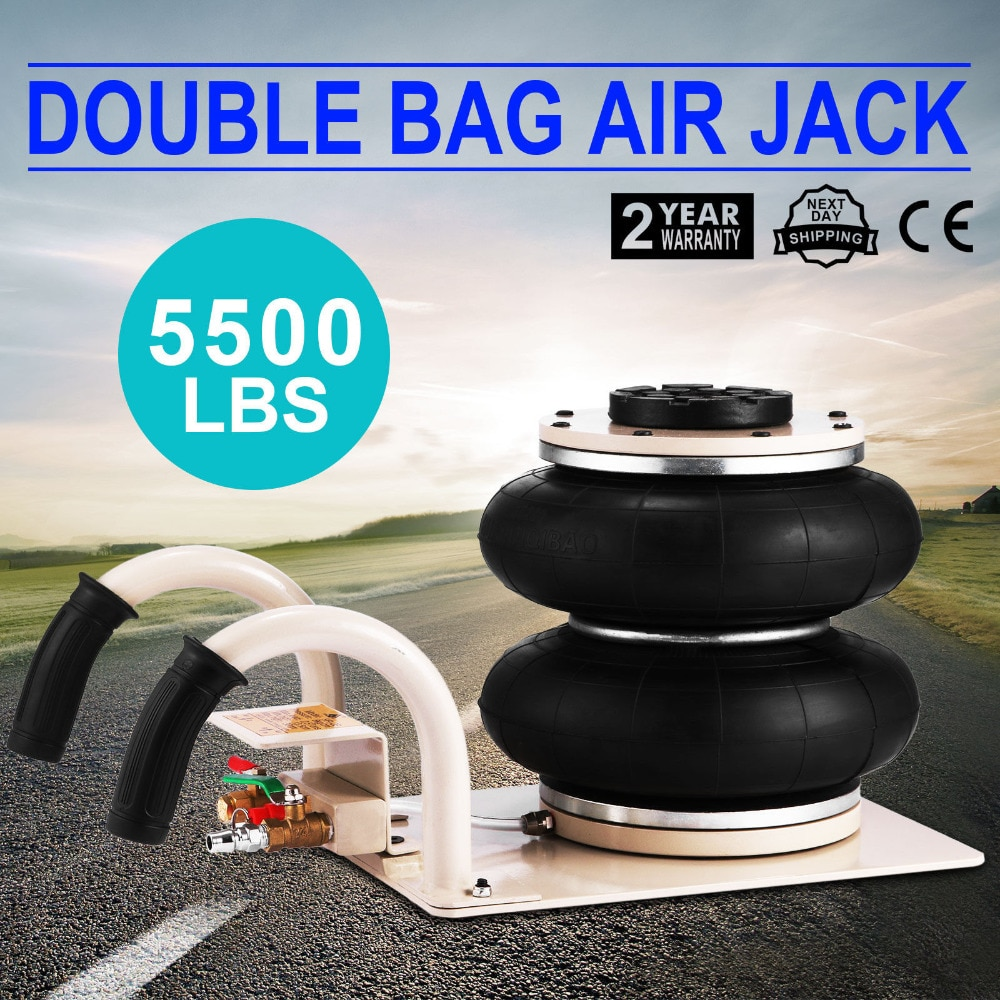 New 2.5Ton Pneumatic Air Bag Jack Quick Lift Garage Mechanic Car Van Profesional