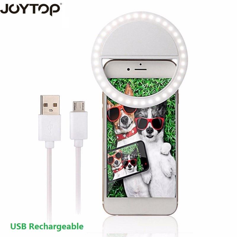 Joytop usb recarregável luz de preenchimento 36 leds câmera melhorar fotografia selfie anel luz para ipad smartphone selfie flash luz