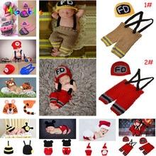 Crochet, accessoires Photo pour bébés garçons   Chapeau, vêtements pour bébés garçons, ensemble tricoté pour nouveaux nés, ensemble chapeaux pantalons pour la photographie, 1 ensemble,