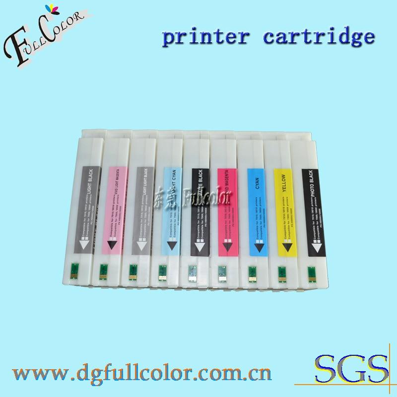 DHL envío gratis 9 unids/lote 700 ml cartucho de tinta para pro7890 9890 reemplazar tinta T6361-9 cartuchos de tinta